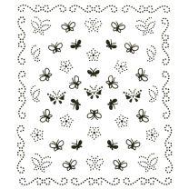 Abziehbilder Schmetterling schwarz (Nailart Sticker)