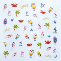 Abziehbilder Beach Club (Nailart Sticker)