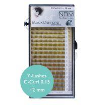 BDC Silk Y-Lashes (2D) C-Curl 0