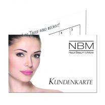 Kundenkarten Permanent Beauty - mit Stempelfeld