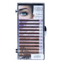 BDC Eyebrow Extensions Flat 0,07 Mix light brown