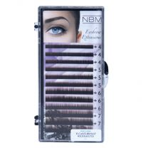 BDC Eyebrow Extensions Flat 0,07 Mix dark brown