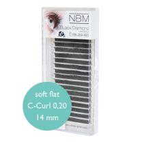 BDC Soft Flat Silk Lashes C-Curl 0,20 - 14mm