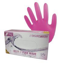 Handschuh Nitril pink puderfrei Größe M