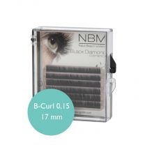 BDC Silk Lashes B- Curl 0,15 - 17mm mini tray