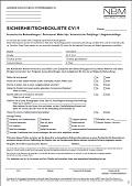Sicherheitscheckliste CV19